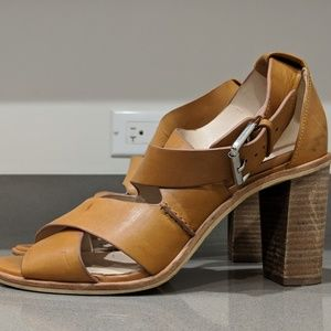 41bcb1ccf669 Clarks Shoes - Clarks Narrative Oriana Bess Tan Sandal Heels 8.5